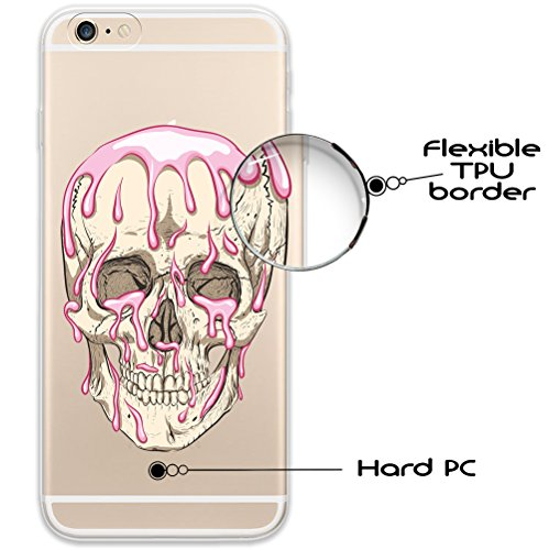 iPhone 6 6S Hülle, WoowCase® [ Hybrid ] Handyhülle PC + Silikon für [ iPhone 6 6S ] Universum Mädchen Mehrfarbig Handytasche Handy Cover Case Schutzhülle - Transparent Hybrid Hülle iPhone 6 6S D0342