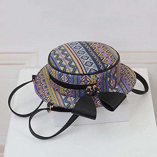 Borse a Tracolla Sacchetto Donna, Borse di Stile Cappello Rotondo Borse a Mano Elegante Zaino Stampato 1 Taglia unica Stampato 4