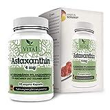Astaxantina 4mg di VITA1 • 90 capsule (fornitura per 3 mesi) • Senza glutine, vegano, kosher e halal • Fatto in Germania