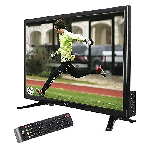 netshop 25 Xoro HTL 2448 60cm (24 Zoll) LED Fernseher (HD-Ready, Triple Tuner DVB-S2/T2/C H.265/HEVC-Decoder, PVR Ready + Timeshift, USB 2.0 Mediaplayer, CI+, 12V) [Energieklasse A] schwarz Comp-video-stereo