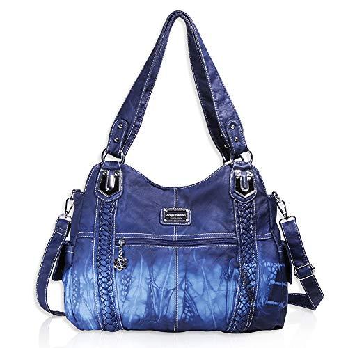 Angel Barcelo Geldbörsen und Handtaschen für Frauen Damen Umhängetasche Designer Tie Dye Satchel Fashion Totes für Mädchen (0044-Blau) -