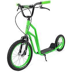 Xootz BMX Trottinette pour Enfants, idéal pour débutant et intermédiaire Riders-Vert