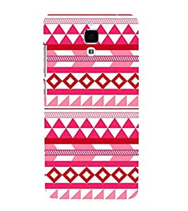PrintVisa Triangle Square Pattern 3D Hard Polycarbonate Designer Back Case Cover for Oppo R7 Plus