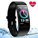 Fitness Tracker Watch, Activity Tracker with Heart Rate Monitor Blood Pressure Monitor, Waterproof