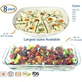 Silicone Stretch Lids (EXCEPTIONAL XXL and XL Size) Covers Food Platters, Serving Dishes, Salad Bowls, Pots, Containers, Jars, Cans by Billam Products