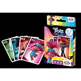 Juego de Cartas Shuffle Fun Toy Trolls 2 - Baraja de Cartas con 4 Juegos de Snap, Familias, Parejas y Juego de Acción