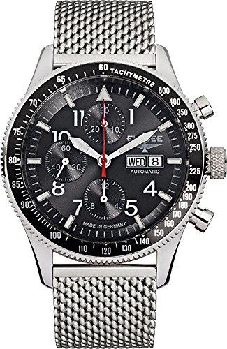 Elysee 80530MBLACK - Reloj de pulsera hombre, acero inoxidable, color Plata