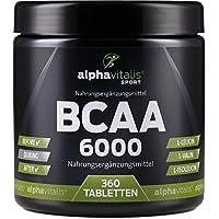 BCAA 6000-360 Tabletten á 1000 mg reine BCAAs - vegan - ohne Magnesium Stearat - glutenfrei - laktosefrei - essentielle... preisvergleich bei fajdalomcsillapitas.eu