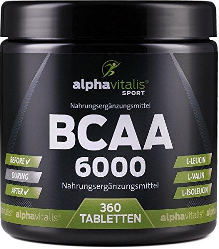Magnesium 250 Mg Tabletten (BCAA 6000 vegan - 360 Tabletten á 1000 mg reine BCAAs - ohne Magnesium Stearat - glutenfrei - laktosefrei - essentielle Aminosäuren für Sportler EINWEG)