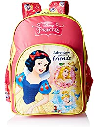 Disney Princess Pink School Bag For Children Of Age Group 6-8 Years| Size 16 Inch