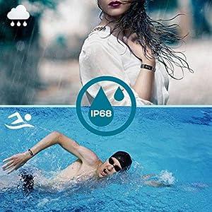 Pulsera Inteligente IP68, CHEREEKI Fitness Tracker Pantalla Color Bracelet