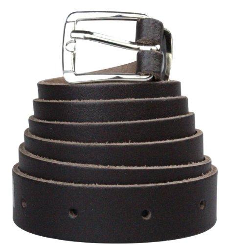 Cinture en cuir véritable de 2 cm d'épaisseur   Couleur : marron foncé   Tour de cinture : 75cm = approx 90cm Longueur totale