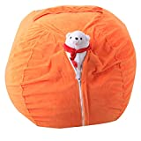 Gaddrt Storage Bag Kids Stuffed Animal super soft Short Plush Toy Storage Bean Bag morbida striscia della sedia in tessuto Orange