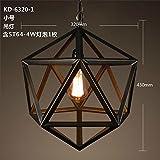 Gunxifacai Cage de fer américain Immobilier Bar & Cafe Restaurant Retro Lustres Art industriel personnalité créatrice Cage décorée 32*43cm Lampes...