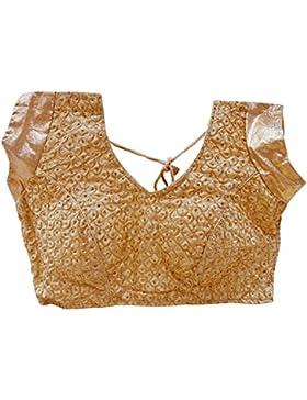 Diseñador Readymade De La Blusa De Saree Acolchada De Oro De La Manera Elegante De Las Mujeres Bordó El Choli