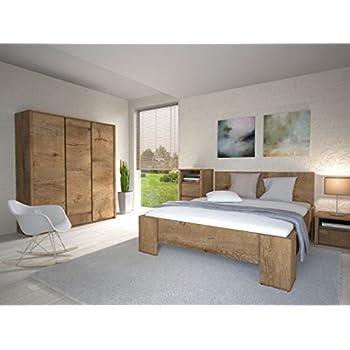 Komplett schlafzimmer doppelbett bett nakos kleiderschrank luca pinie weiss landhaus - Komplett schlafzimmer luca ...
