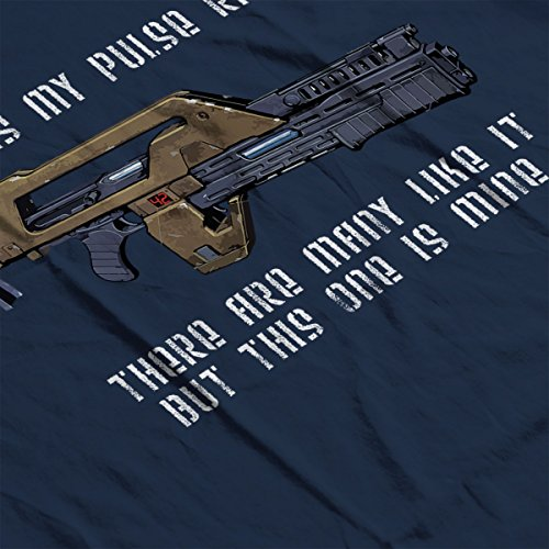 This Is My Pulse Rifle This One Is Mine Aliens Men's Vest Navy Blue