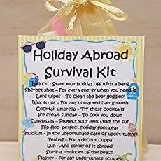 Holiday Abroad Survival Kit Unique Homemade Novelty Gift