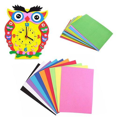 collectsound 10 Blatt Mehrfarbig A4 Schwamm Eva Schaum Papier Kinder Handwerk DIY Handwerk Papier -