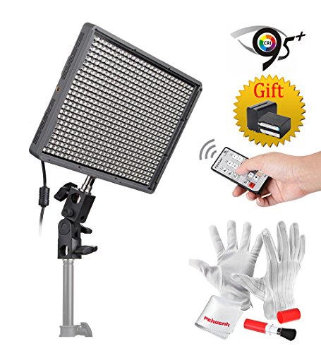 Get Emgreat® Aputure Amaran HR672KIT 672 Led Video Light Panel Studio Lighting Kit with 2.4G FSK Wireless Remote Control, Battery Pack and Pergear Clean Kit (SS) Reviews