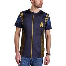 Star Trek Mens T-Shirt Discovery Comandante Uniforme Blu
