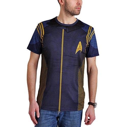 Star Trek Herren T-Shirt Discovery Commander Uniform Blau - L