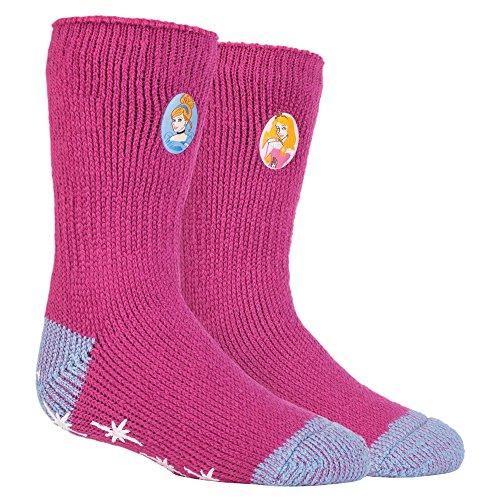 HEAT HOLDERS Mädchen Socken mehrfarbig mehrfarbig Medium Gr. Medium, Disney - Princess (Kids Xl Socks Hunter Boot)
