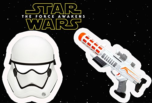 STAR WARS EPISODE 7 - Storm Trooper First Order Set bestehend Maske und Elektrischem Space Blaster mit Sound thumbnail