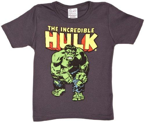 LOGOSHIRT - Hulk T-Shirt Kinder Jungen - Marvel Comics - The Incredible Hulk - blaugrau - Lizenziertes Originaldesign, Größe 104/116, 4-6 (Hulk Kostüme Baby)