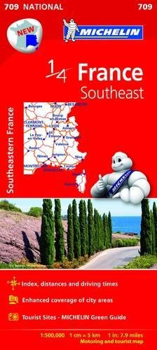 Southeastern France - Michelin National Map 709