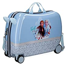 Frozen Spirits of Nature Blue Rolling Suitcase 2 multi-direction spinner wheels