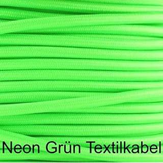 Neon Grün Textilkabel, Stoffkabel, Lampen-Kabel, 3-adrig, 3x0,75