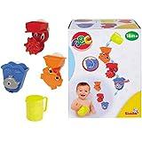 #0618 Badespielzeug Set mit Wasserspiel-Aktivitäten, Becher und Saugnäpfe • Bade Tier Wasserrad Badespaß Wasser Badewannen Spielzeug Badespiel