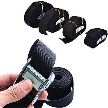 1m nylon belt pack tie down strap lash luggage baggage bag belt metal buckle STU