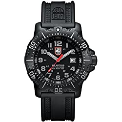 Luminox Authorized for Navy Use (A.N.U.)  Men's Quartz watch with Black dial featuring LLT Luminox light Technology 45 millimeters Stainless Steel case and Black PU Strap  XS.4221.NV