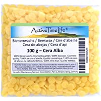 100% reine Bienenwachs Pastillen Bio, gelb, 100 g, für Kosmetik Kerzen Cremes Salben Seifen