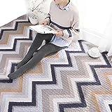 Unbekannt Fußmatten Tatami Überwürfe Sitzauflagen Baumwoll-Kurve Geometrische Muster Haushalt Tatami Krabbeln Matte Maschine Waschbar Waschbar (Color : Gray, Size : 90 * 210cm)
