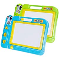 Faburo 2 Pcs Magnetic Drawing Board Erasable Sketcher Tablet Magnet Doodle Pad For Kids