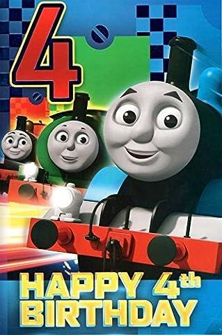 Thomas the Tank Engine Age 4 Carte D'anniversaire