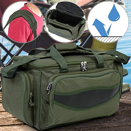 Angeltasche - wasserdicht, groß, 56/31/30 cm, Armeegrün, mit gepolstertem Schultergurt und Tragegriffe - Angelbox, Angelkoffer, Anglertasche, Allzwecktasche, Karpfentasche
