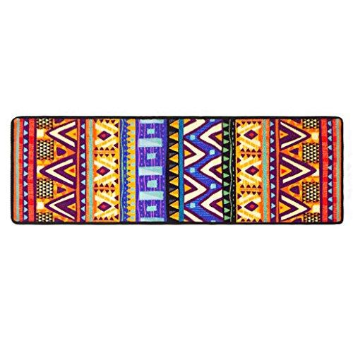 Zhhl semplice geometria fashion area etnica area rug easy clean fade resistant (dimensioni : 40 * 120cm)