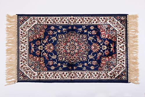 Homelife tappeto persiano orientale moderno [120x160 cm] | tappeto sottile per salotto/camera da letto/soggiorno con fondo in cotone antiscivolo | scendiletto in stile orientale | [blu, 120x160]