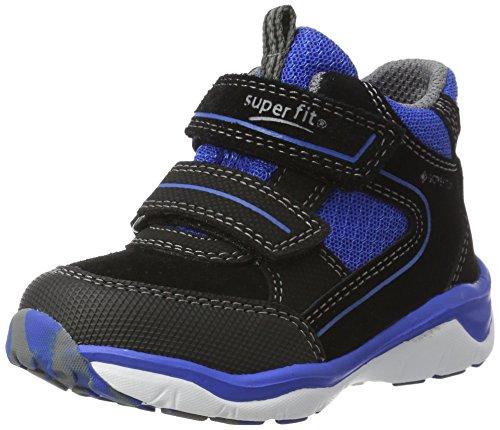 Superfit Jungen SPORT5 Hohe Sneaker, Blau (Schwarz Kombi), 28 EU