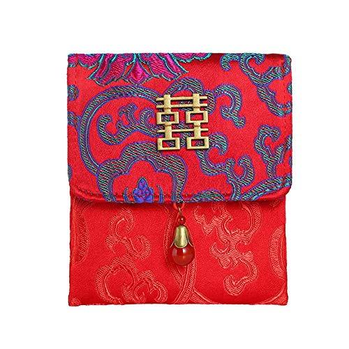 novative süße Tasche Stoff Brokat roter Umschlag für das Neue Jahr Frühlingsfest ()