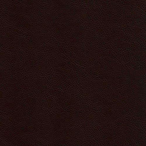 StoffConcept Kunstleder Texas Darkbrown PVC Echtleder Optik Rindsleder Polsterstoff Muster
