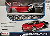 Bugatti Maisto 1:24 Bugatti Chiron Die Cast Car (Black And Red)
