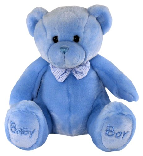 keel-toys-peluche-ours-assis-baby-boy-bleu-38-cm