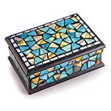 Türkis und Gold Mosaik Schmuck Box