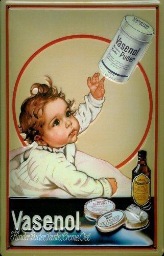 Bambini polvere Vasenol soggetto scudo latta metallo Tin Sign 20 x 30 (Scudo Polvere)