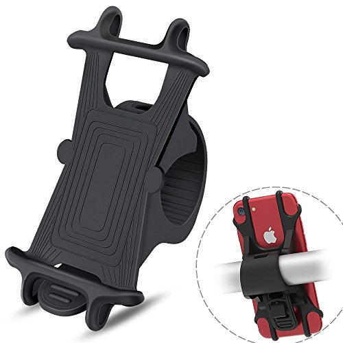 Bike phone halter, jemache Universal Silikon Motorrad/Fahrrad Lenker Halterung für iPhone X 66S 78Plus, Samsung Galaxy S7Edge/S8/S8Plus/Note 8